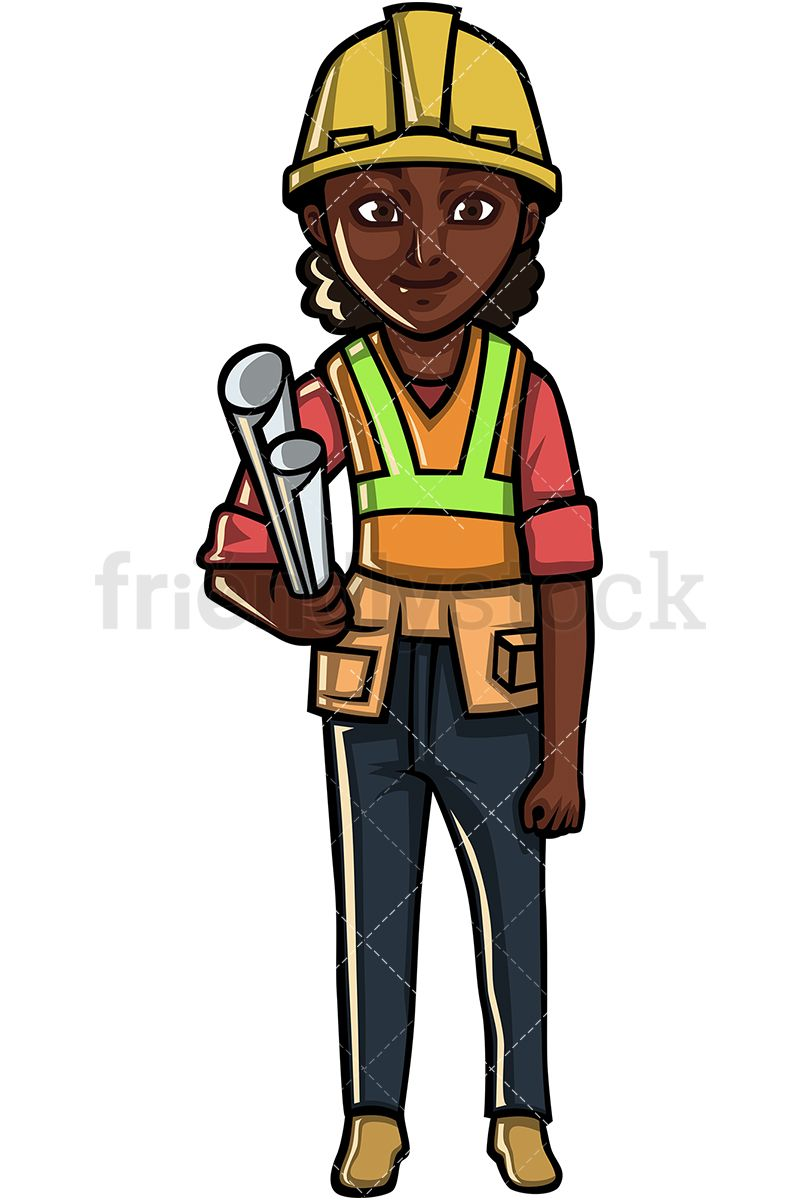 svg library stock Female clipart builder. Black construction worker in
