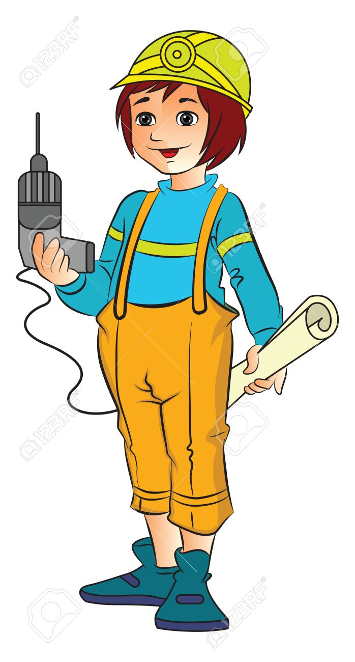 free stock Engineer free download best. Female clipart builder