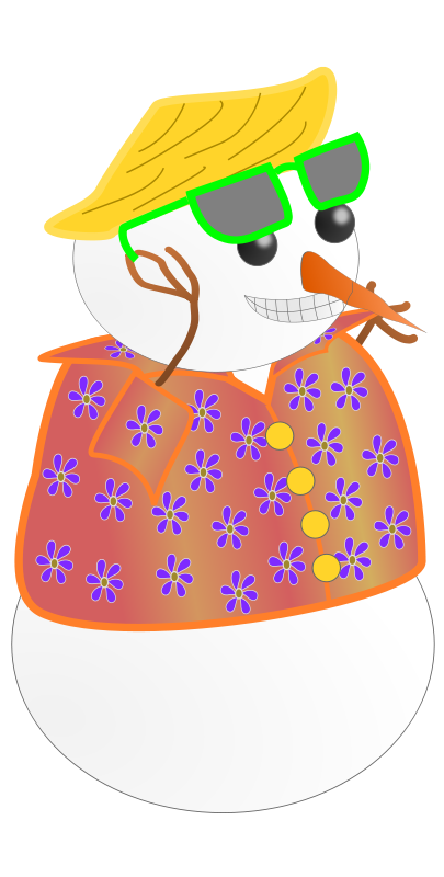 svg royalty free download Snowman Clipart