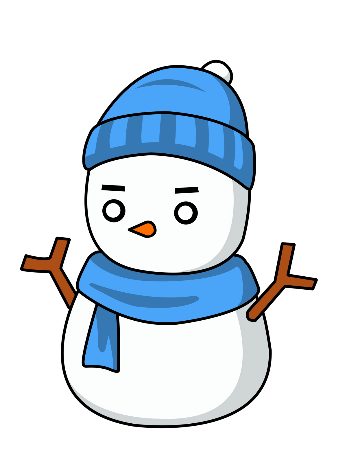 clipart freeuse download Funny Snowman Clipart
