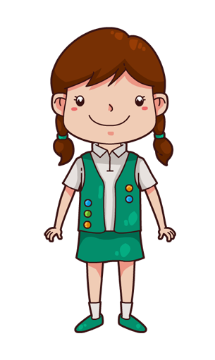 graphic black and white library Girl scout scouts pinterest. Bedtime story clipart
