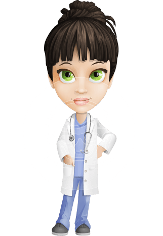 vector black and white Vector doctor physician. Dr fran first aid