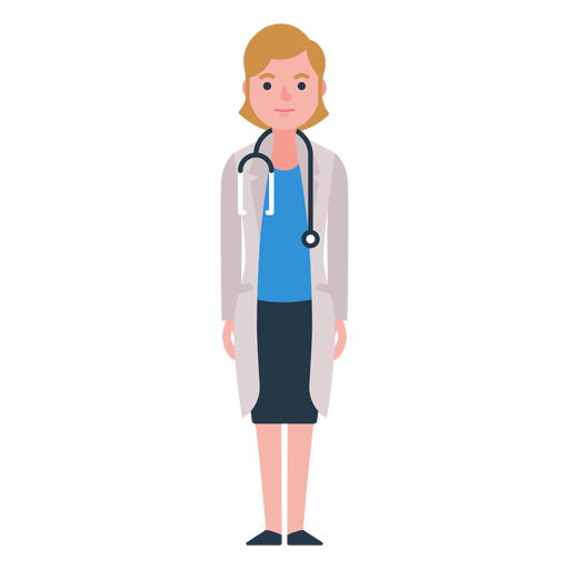 picture royalty free download Vector doctor female. Flat woman character transparent