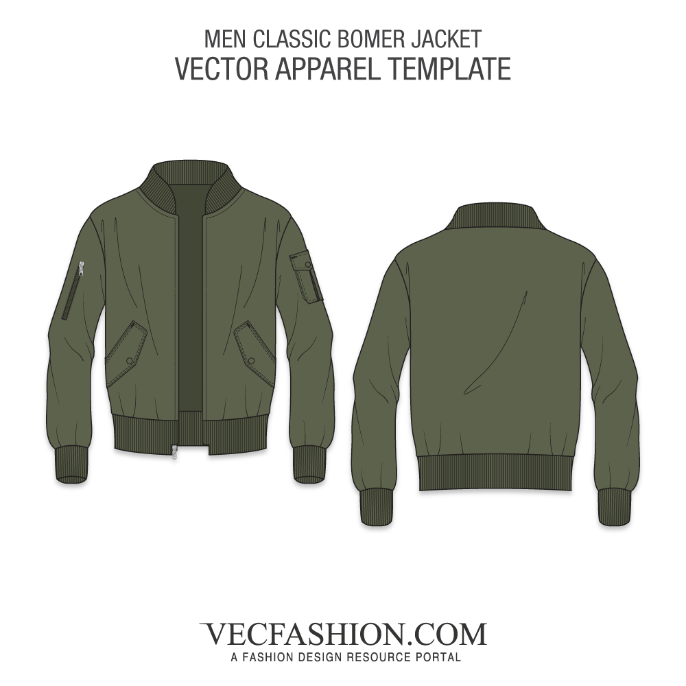 clipart royalty free stock Apparel templates fashion design. Vector clothing bomber jacket