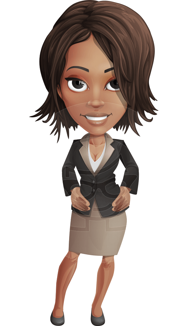 svg library download Vector cartoons female. Office woman cartoon character