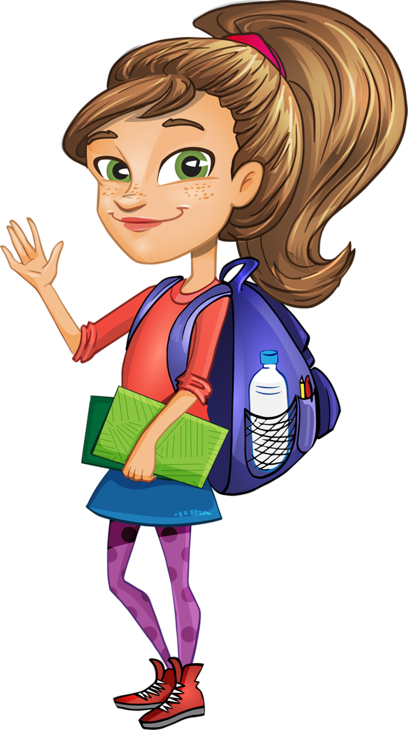 graphic Vector Girl Student