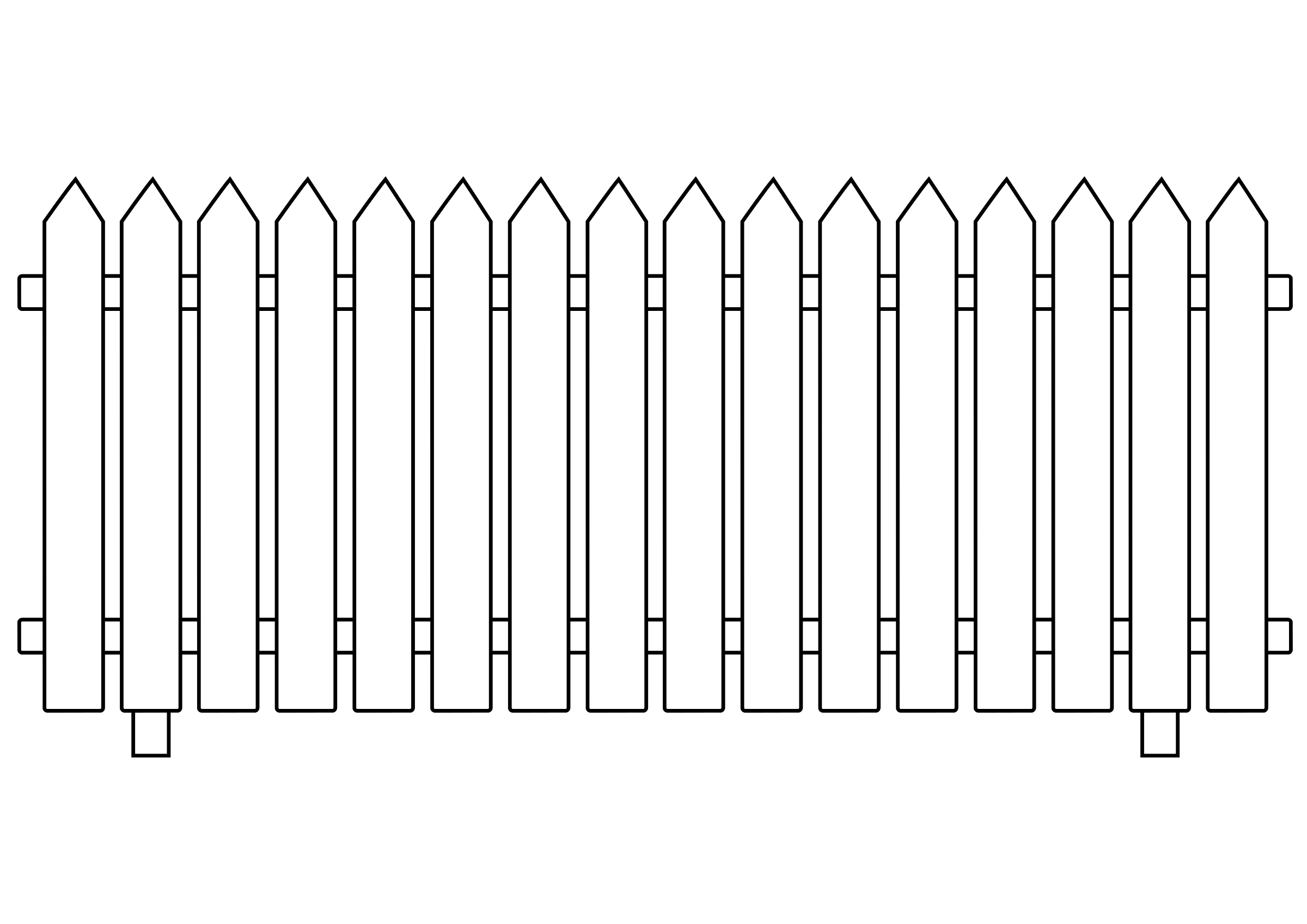 graphic freeuse stock White Picket Fence Clipart