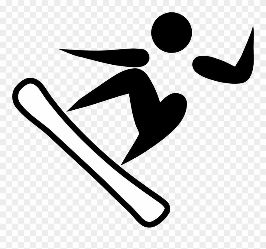 clip royalty free Snowboarding pictogram . Fencing clipart olympic athlete.