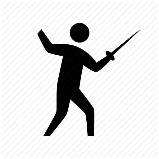 clip art black and white download Fencing clipart olympic athlete. Sports by monter xz.