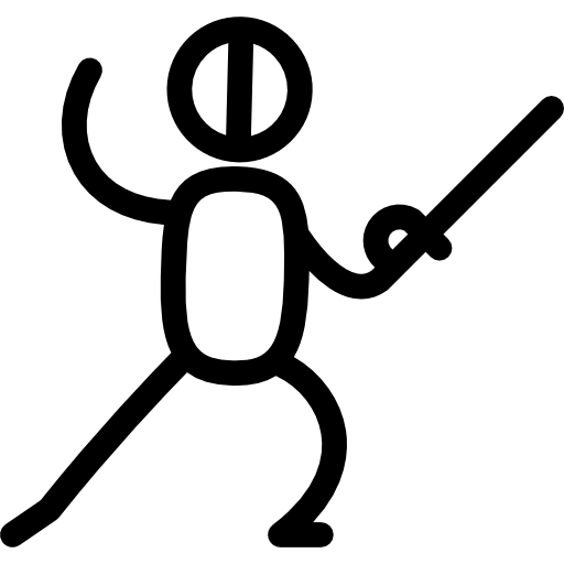 png royalty free Fencing clipart olympic athlete. Flat black icon page.