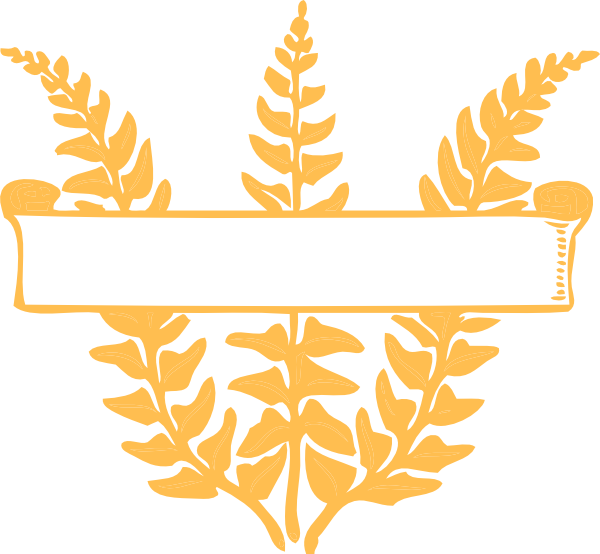 clip art freeuse library Gold Fern Scroll Clip Art at Clker