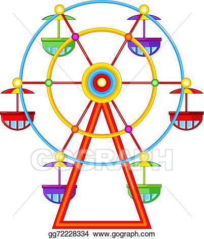 jpg freeuse download Vector a wheel ride. Ferris clipart