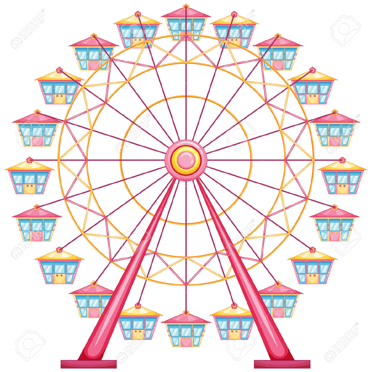 image transparent library Ferris clipart. Wheel station
