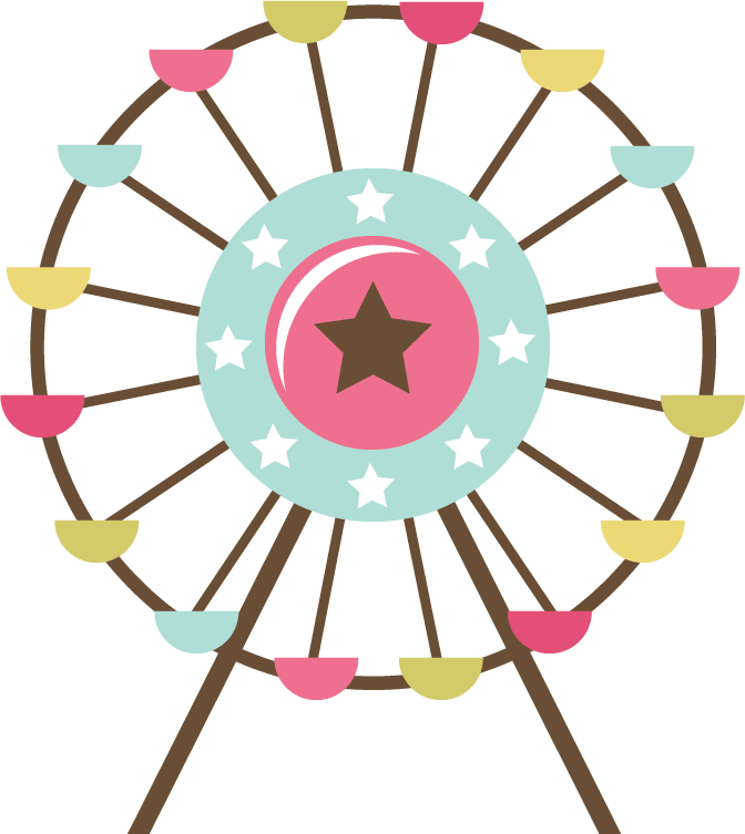 image transparent library Silhouette clip art at. Vintage ferris wheel clipart