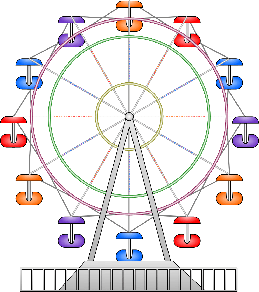 clipart transparent download Free . Vintage ferris wheel clipart