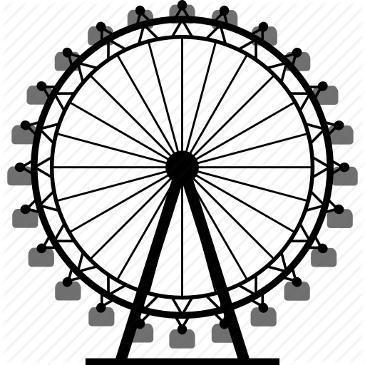 picture transparent Vintage ferris wheel clipart. Simple drawing at getdrawings