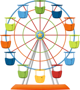 banner transparent Ferris wheel