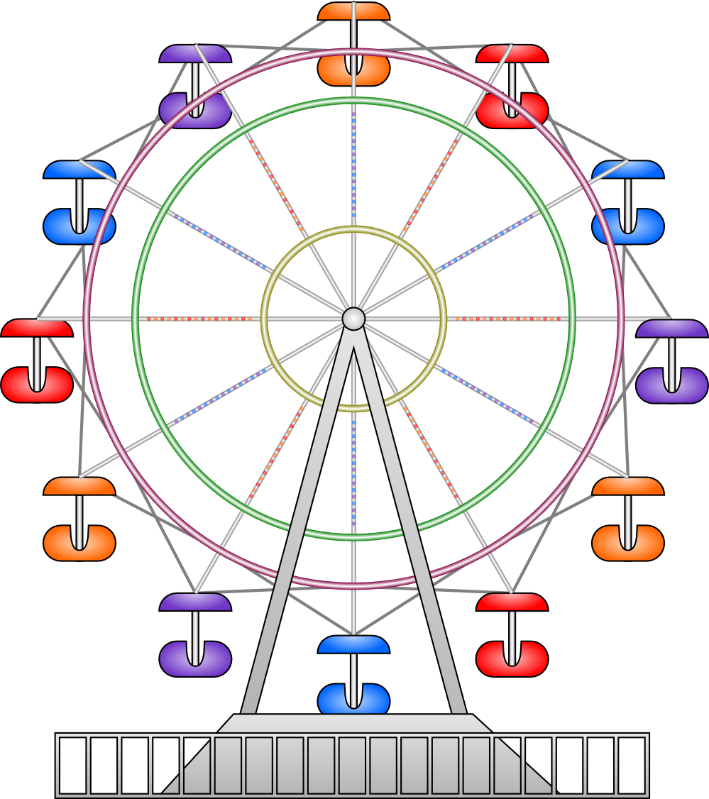 vector library Trendy free clip art. Ferris wheel clipart.
