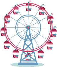 graphic black and white library Ferris wheel clipart. Pin on travel .