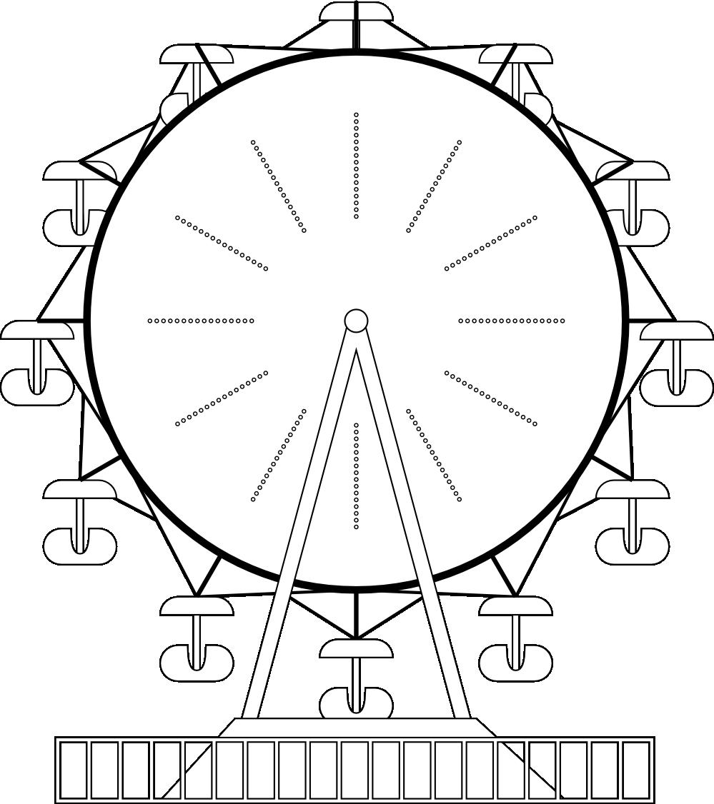 image download Ferris wheel clipart black and white. Clipartist net clip art