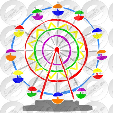 clipart royalty free Ferris wheel clipart. Stencil for classroom therapy.