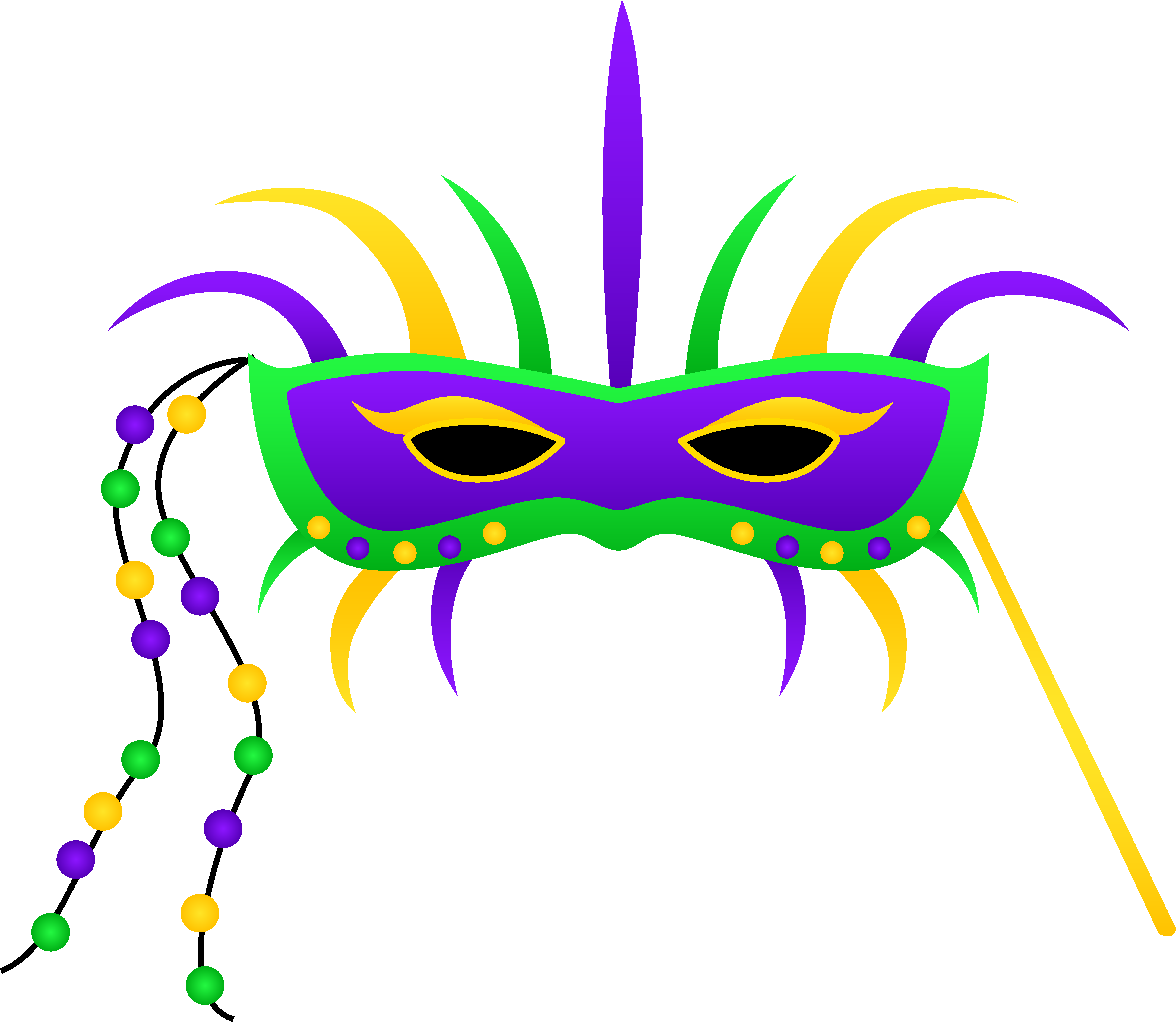 vector transparent Mardi gras mask free. Festival clipart