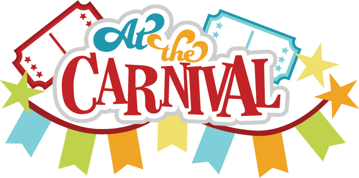 picture black and white At The Carnival SVG scrapbook title carnival svg file for