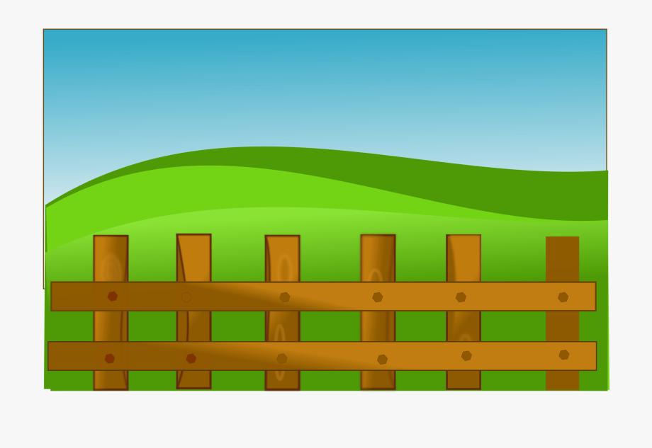 clip transparent Farm cartoon fence free. Field clipart.