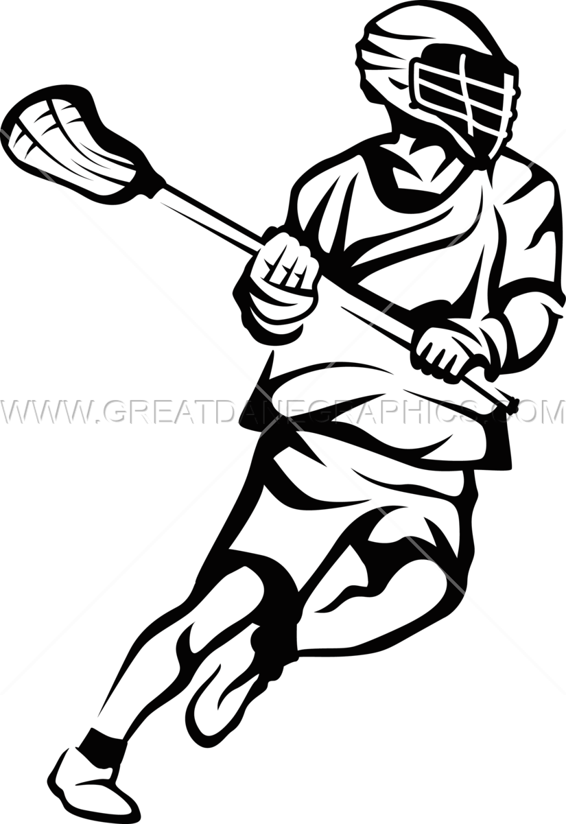 image stock Lacrosse vector player. Drawing at getdrawings com