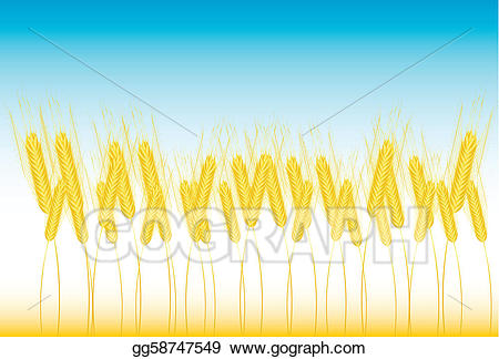 clipart free Eps illustration vector gg. Field of wheat clipart