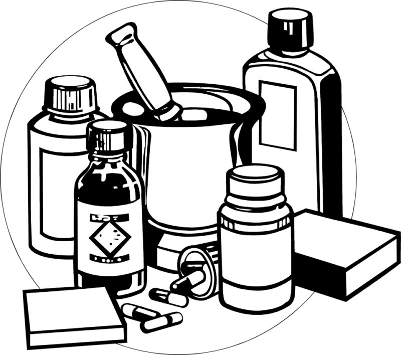 vector free library Free Medicine Clipart Black and white ImagesDownload
