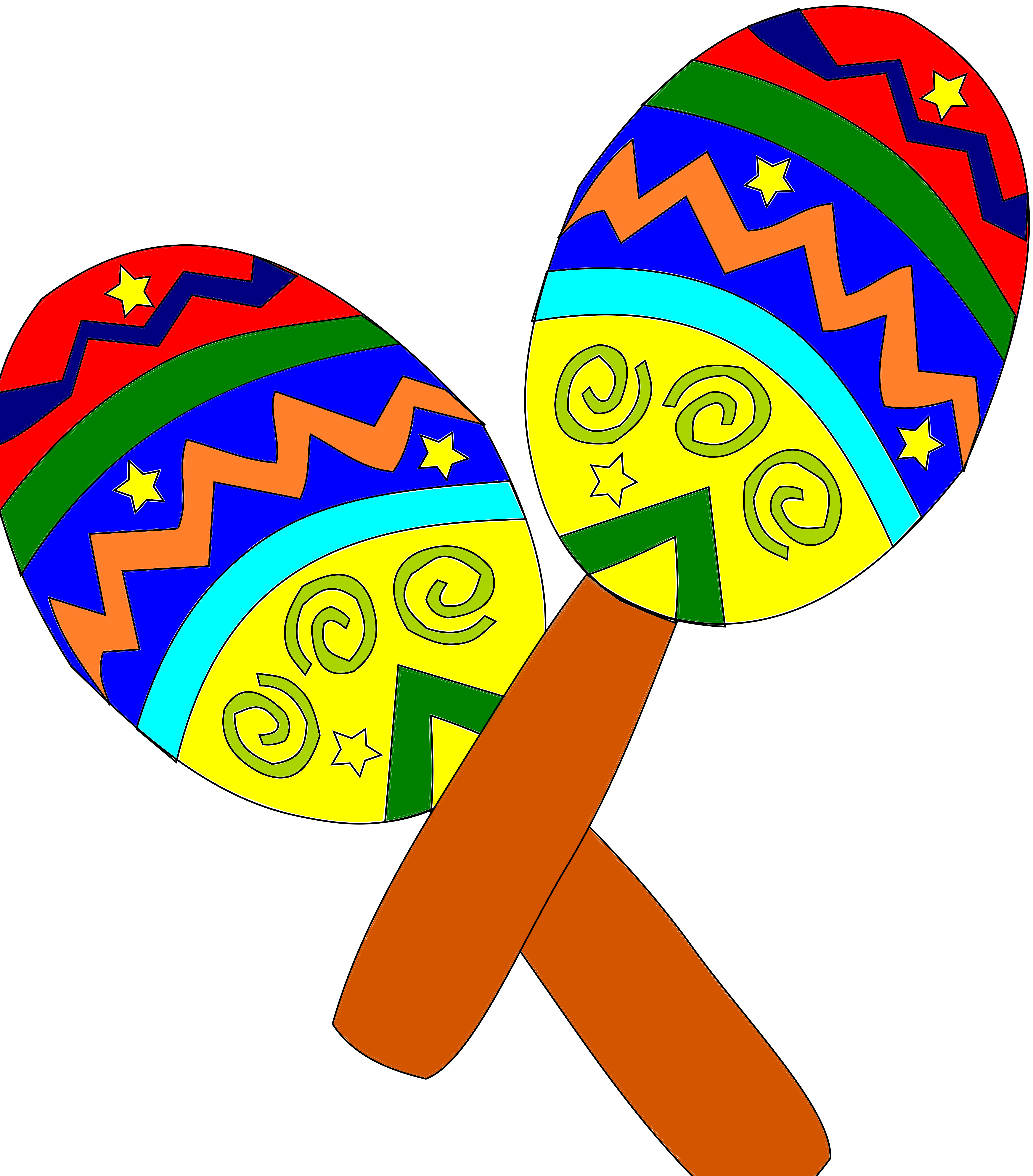 clipart freeuse download Sombrero And Maracas