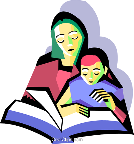 graphic freeuse download With child reading royalty. Mother clipart born baby.