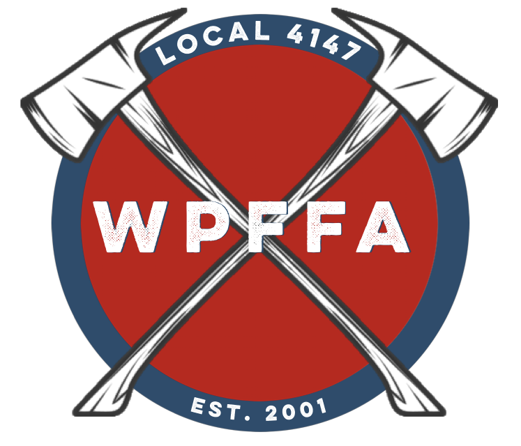 graphic black and white Westlake Professional Fire Fighters Association