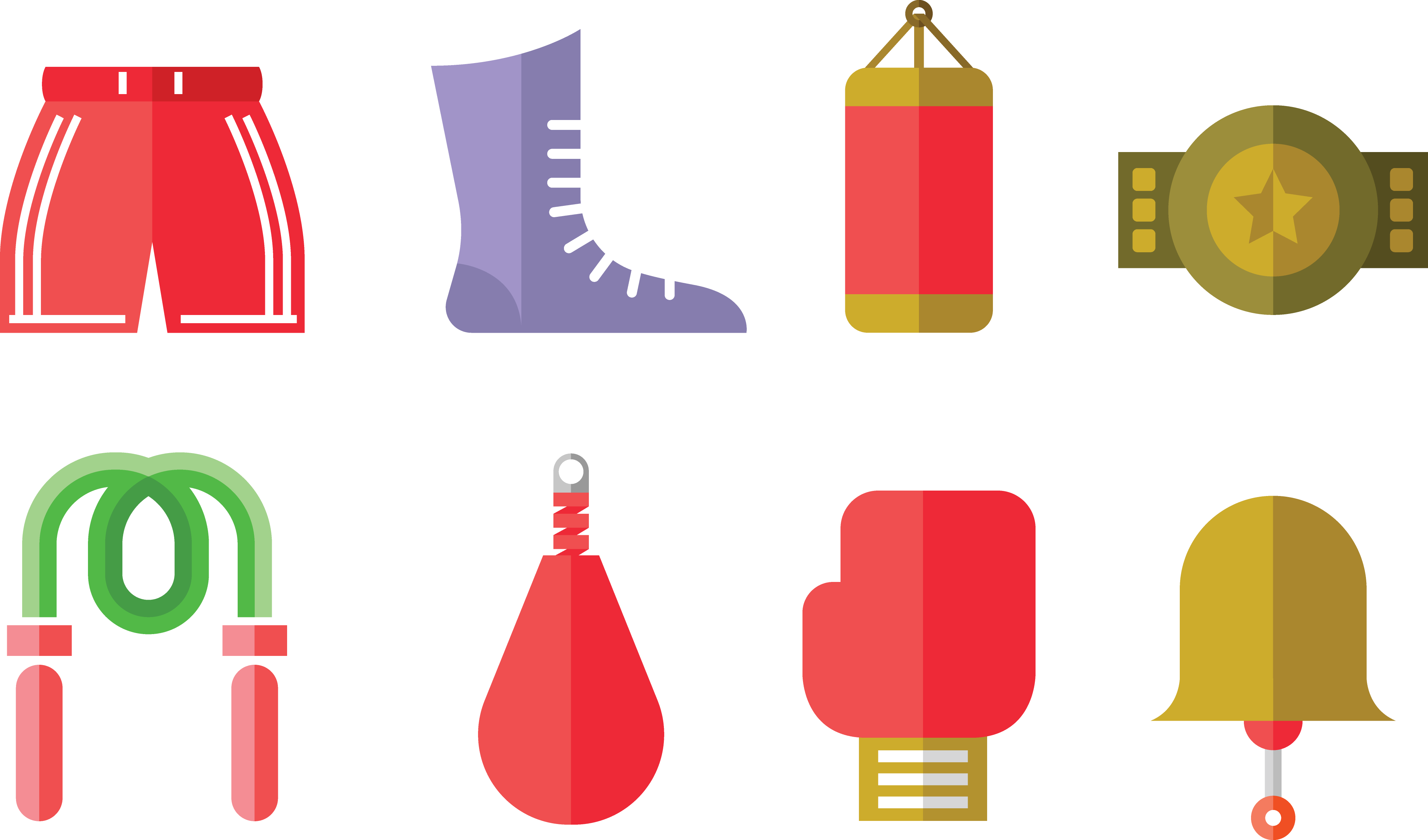 vector free stock Boxing glove Muay Thai Icon