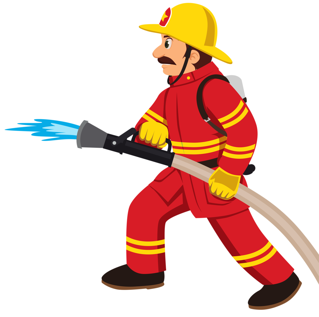 picture download Fire fighting clipart image. Fireman drawing
