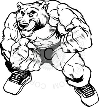 png free stock Fighting clipart black and white. Bear