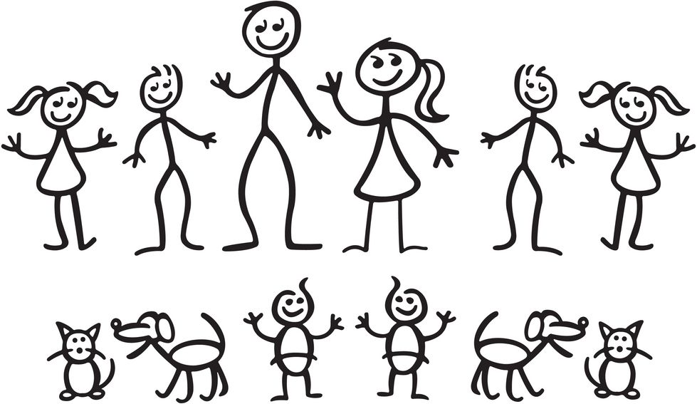 picture library download Helping children make a. Drawing stick family