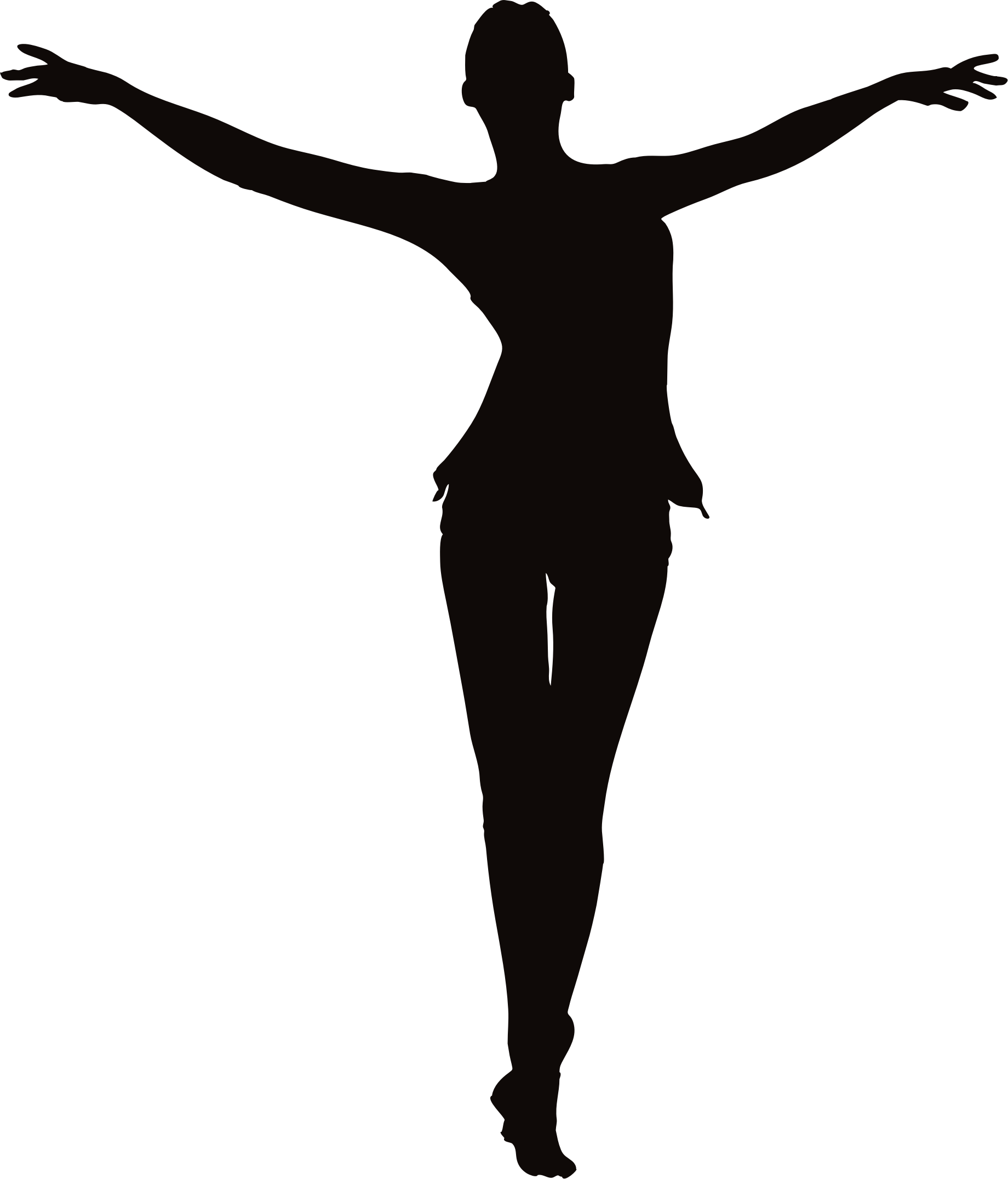 freeuse Arm circles clipart. Female figure arms up