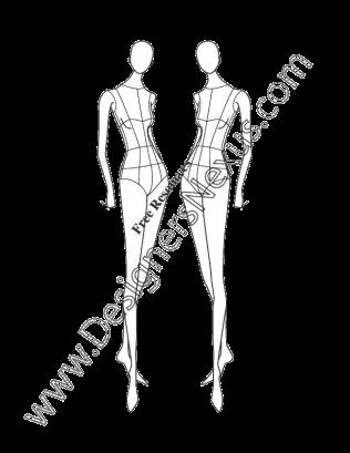 banner library stock Female Fashion Figure Pose V