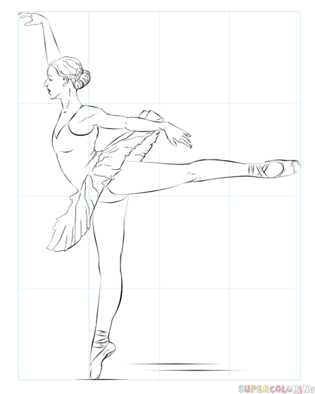 transparent How to draw a ballerina