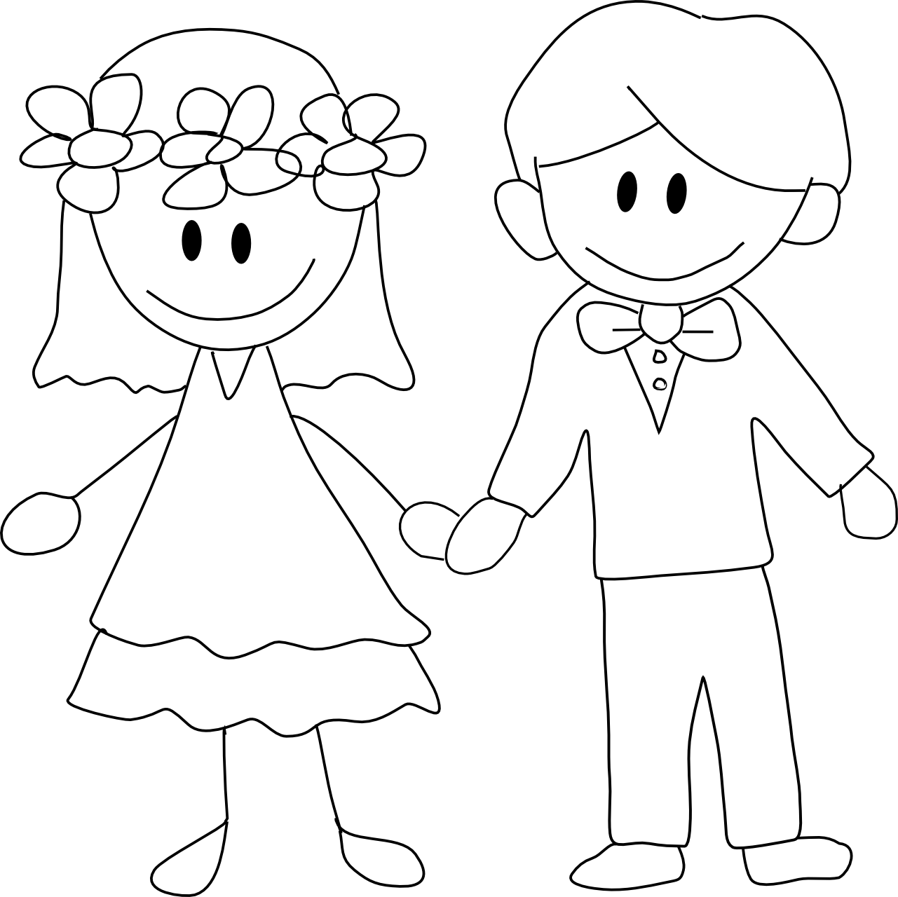 transparent Wedding Cartoon Drawing at GetDrawings