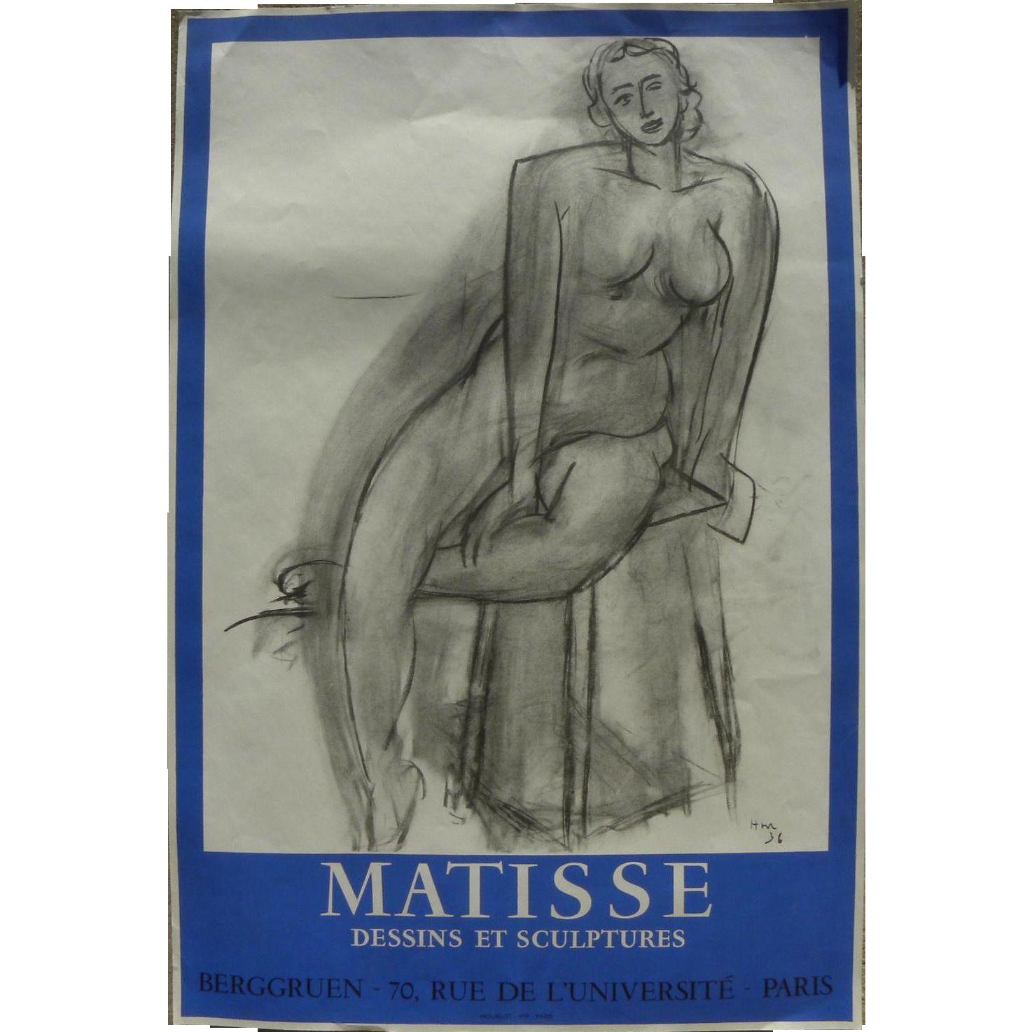 jpg royalty free library Henri original lithograph poster. Drawing prints matisse