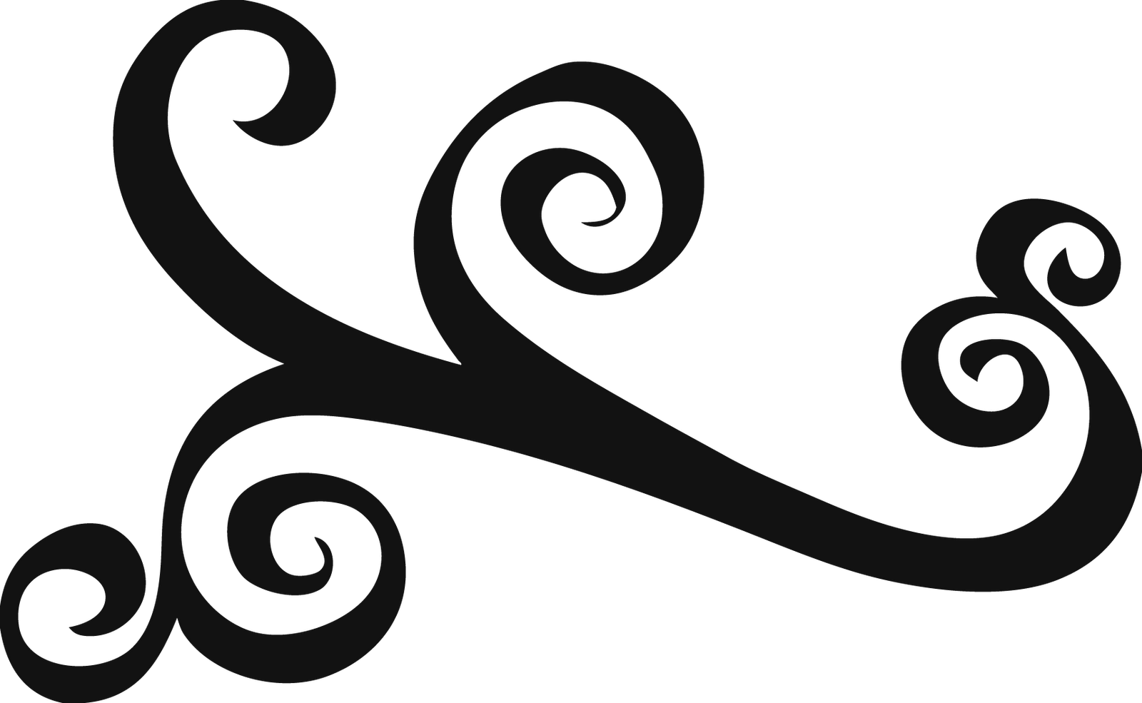 banner black and white download Simple Filigree Scroll Designs
