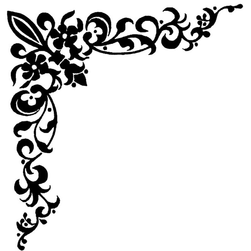 svg Filigree curly transparent free. Clipart corner borders.