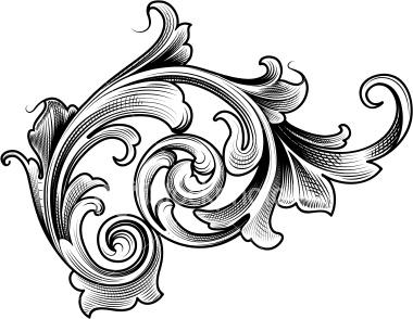 clip art black and white download Free cliparts download clip. Filigree clipart
