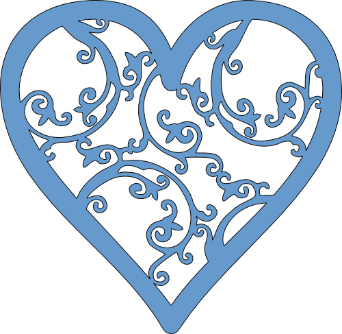 clip library library Filigree svg silhouette. Heart images by heather.