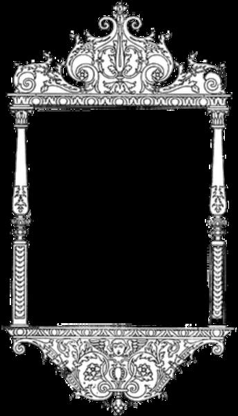 banner black and white download Frame Filigree Silver