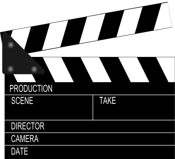 jpg free download Slate clip art movie. Film clipart