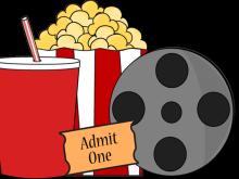 clip art royalty free Movie night clip art. Film clipart.